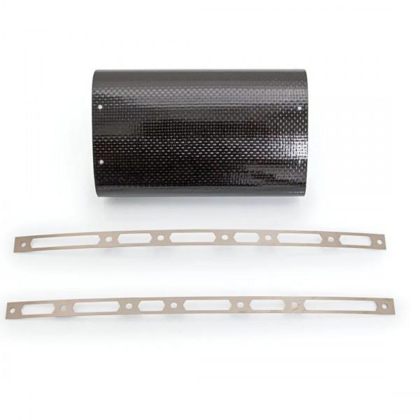 Akrapovic Hüllenkit Carbon Hülle, Nietbändern, Edelstahl- V4A Niete, Aufkleber