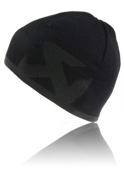 Akrapovic Knitcap Beanie Schwarz, Logo Grau