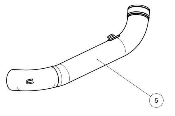 Akrapovic Zwischenrohr Evo-2- 2-2, Titan