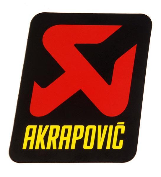 Akrapovic Aufkleber 60 mm hitzebeständig nur für Carbonendkappen
