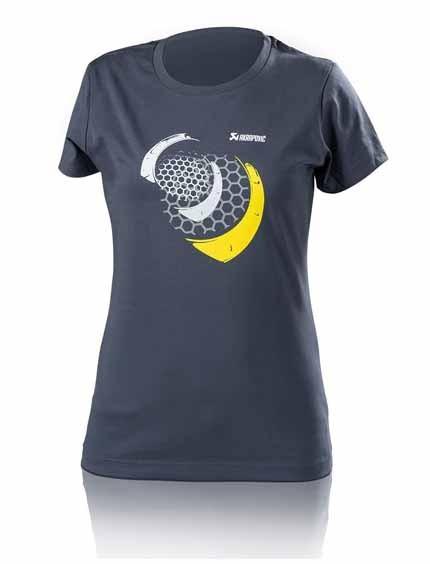Akrapovic T-SHIRT Damen Lifestyle Mesh Blau/Grau