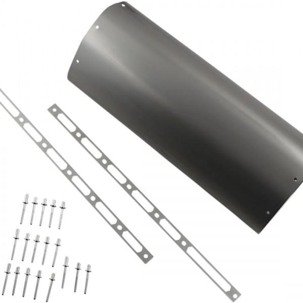 Akrapovic Hüllenkit Titan Hülle, Nietbändern, Edelstahl- V4A Niete, Aufkleber