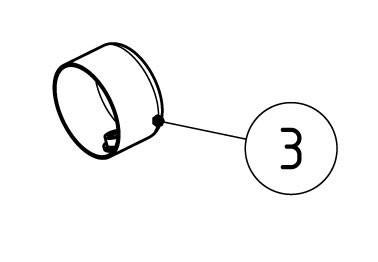 Akrapovic Reduktionshülse passend auf die rechte Seite