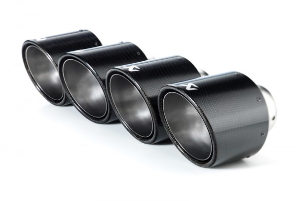 Akrapovic TAIL PIPE SET ohne TÜV Endrohrset (Durchmesser 125mm) aus Carbon