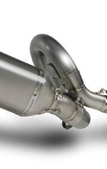 Akrapovic Zwischenrohr Evo-2- 1-1, Titan mit Flansch & Expansionskammer